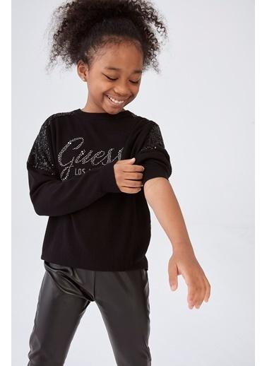 Guess Kız Çocuk Siyah Kazak Siyah